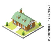 isometric building. flat style. ...   Shutterstock .eps vector #414275827