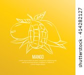 Mango Fruit Vector Illustration.
