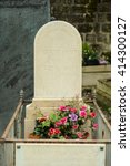Small photo of PARIS, FRANCE - APRIL 29, 2016: grave in the Pere Lachaise Cemetery. Auguste Comte was a French philosopher. He was a founder of the discipline of sociology and of the doctrine of positivism.