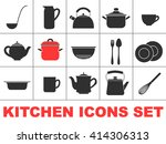 set of icons of kitchen ware.... | Shutterstock .eps vector #414306313