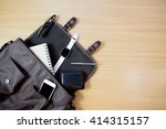 outfit of traveler  student ... | Shutterstock . vector #414315157