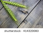 young wheat ears isolated on a... | Shutterstock . vector #414320083