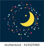 the moon and the stars in the... | Shutterstock .eps vector #414325483