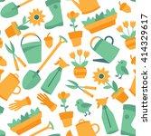 vector seamless gardening... | Shutterstock .eps vector #414329617