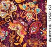 bright seamless pattern in... | Shutterstock .eps vector #414334603