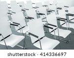 rows of empty white modern... | Shutterstock . vector #414336697