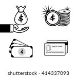 vector set of money icon for... | Shutterstock .eps vector #414337093
