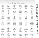 vector modern city life ultra... | Shutterstock .eps vector #414337447