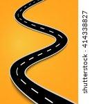 winding road isolated on white... | Shutterstock .eps vector #414338827