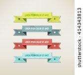 vintage elements set   Shutterstock .eps vector #414343813