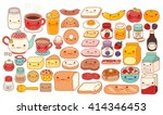 collection of lovely baby... | Shutterstock .eps vector #414346453