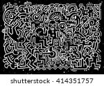 dancing party pattern with... | Shutterstock .eps vector #414351757
