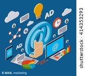 e mail marketing  advertising ... | Shutterstock .eps vector #414353293