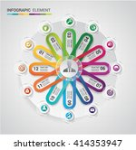 abstract modern circle ... | Shutterstock .eps vector #414353947