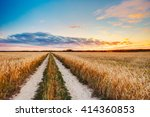 rural countryside road through... | Shutterstock . vector #414360853