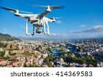drone quadcopter with digital... | Shutterstock . vector #414369583
