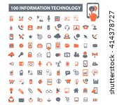 information technology icons  | Shutterstock .eps vector #414378727