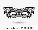 beautiful lace mask. mardi gras ... | Shutterstock .eps vector #414380407