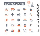 supply chain icons  | Shutterstock .eps vector #414383683