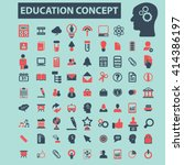 education icons  | Shutterstock .eps vector #414386197