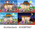 big collection of traveling... | Shutterstock .eps vector #414387067