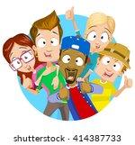vector illustration of best... | Shutterstock .eps vector #414387733