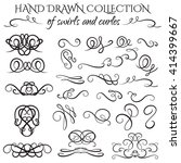 unique collection of hand drawn ... | Shutterstock .eps vector #414399667