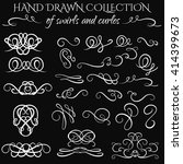 unique collection of hand drawn ... | Shutterstock .eps vector #414399673