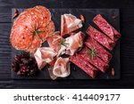 traditional spanish tapas or... | Shutterstock . vector #414409177