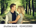 happy young couple. beautiful... | Shutterstock . vector #414410383