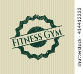 fitness gym grunge style stamp | Shutterstock .eps vector #414412333