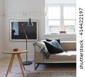 scandi styled living room... | Shutterstock . vector #414422197
