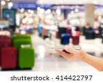 man use mobile phone  blur... | Shutterstock . vector #414422797