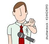 an image of a businessman... | Shutterstock .eps vector #414424393