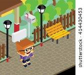 cartoon life isometric | Shutterstock .eps vector #414430453