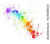 vector watercolor. the colors... | Shutterstock .eps vector #414438313