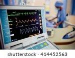 Ekg Monitor At Icu In Hospital