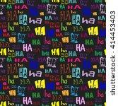 vector. ha ha seamless pattern. ... | Shutterstock .eps vector #414453403