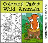 coloring pages  wild animals.... | Shutterstock .eps vector #414454573