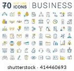 set vector line icons in flat... | Shutterstock .eps vector #414460693