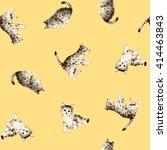 pretty cat pattern | Shutterstock . vector #414463843