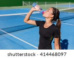Healthy Tennis Player Thirsty...