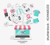 shopping stores online... | Shutterstock .eps vector #414468103