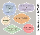 vector set of vintage labels... | Shutterstock .eps vector #414473443