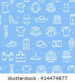 shopping background pattern on... | Shutterstock .eps vector #414474877