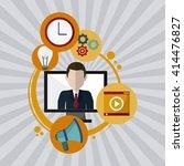 technology design. computer... | Shutterstock .eps vector #414476827