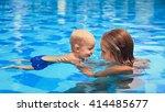 happy little sports man has... | Shutterstock . vector #414485677