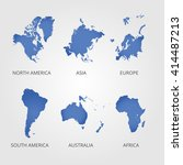 world map countries colorful.... | Shutterstock .eps vector #414487213