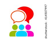 people talking  icon. one of... | Shutterstock . vector #414507997
