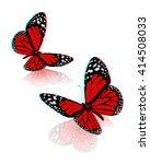 beauty butterflies. 3d... | Shutterstock . vector #414508033